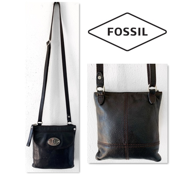 Fossil Handbags - Fossil Leather Front Flap Crossbody bag.